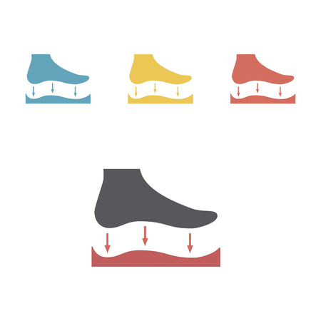 Orthopedic insoles icon isolated on white background. Vector signs for web graphics. Vectores