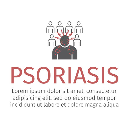 Psoriasis icon. Vector icon for web graphic.