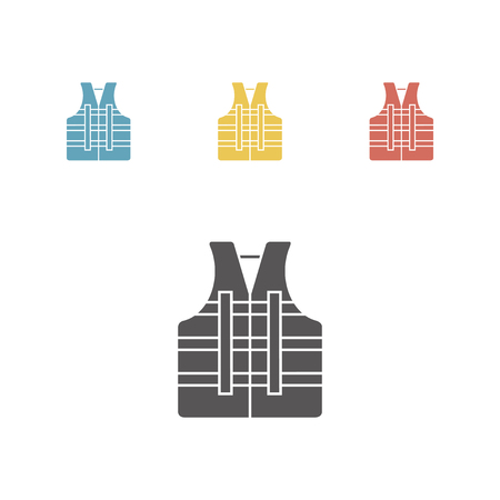 PFD. Personal flotation device. Life jacket. Life vest. Buoyancy aid. Thin line icon. Vector illustration Illustration