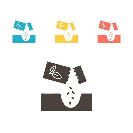 Startpaketsymbol. Vektorillustration Vektorgrafik