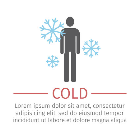 Cold icon. Vector sign for web graphic. 向量圖像