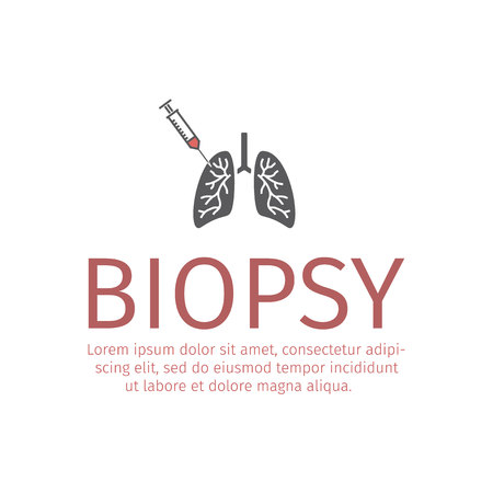 Lungs Biopsy icon. Vector sign for web graphic. 向量圖像