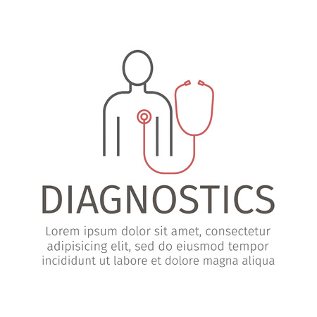 Diagnostic Icon. Vector signs for web graphics.