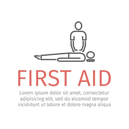 CPR First Aid. Vector illustration