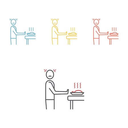 Loss of Appetite. Vector icon for web graphic.