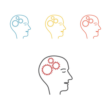 Thinking stimulation, Vector icon for web graphic.