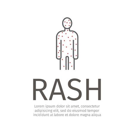 Rash Icon. Vector sign for web graphic.
