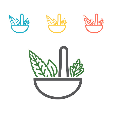 Naturopathy line icon. Simple colored element illustration. Naturopathy icon design from medicine set Ilustração