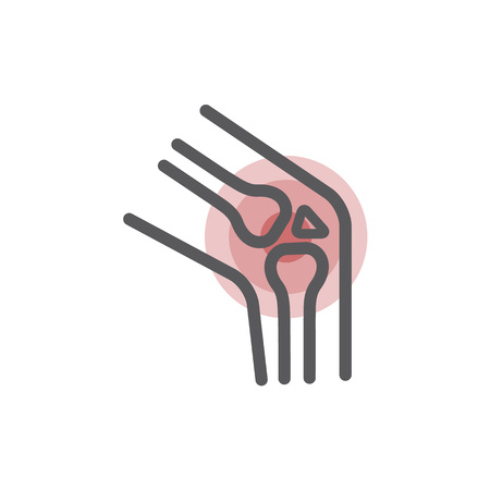 Knieschmerzen. Gelenkknochen für orthopädische Zwecke