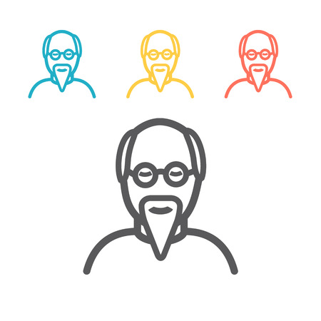 Grandfather cartoon icon. Vector sign for web graphics. Stock Illustratie