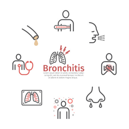 Bronchitis icons. infographic symbol. Vector sign for web graphic.