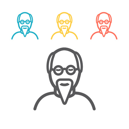 Grandfather cartoon icon. Vector sign for web graphics.
