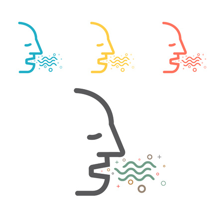 Halitosis. Line Icon. Vector sign for web graphic