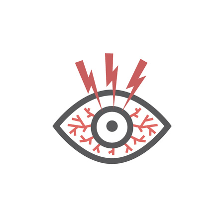 Dry eye syndrome. Vector illustration