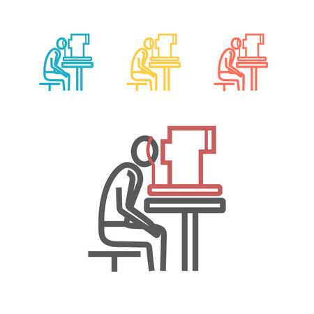 Eye examination line icon. Vector illustration Ilustracja