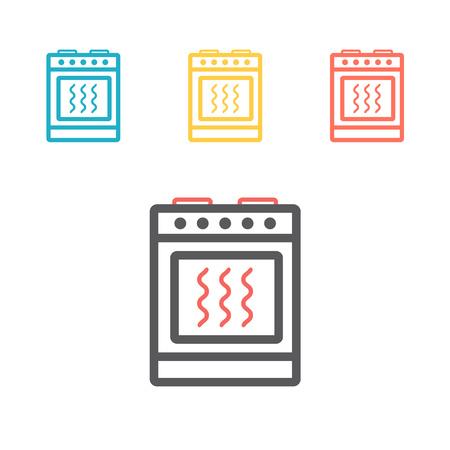 icône de ligne de cuisinière à gaz. Signe de vecteur pour le graphique web Vecteurs