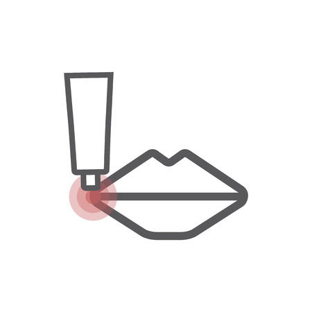 Herpes line icon. Vector sign for web graphic