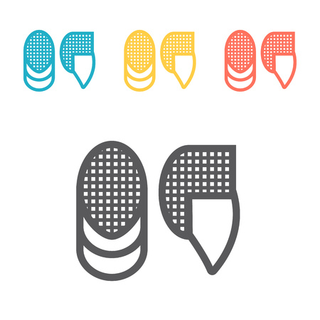 Fencing Mask. Vector signs for web graphics