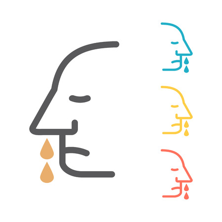 Runny nose vector icon. Vector icon for web graphic