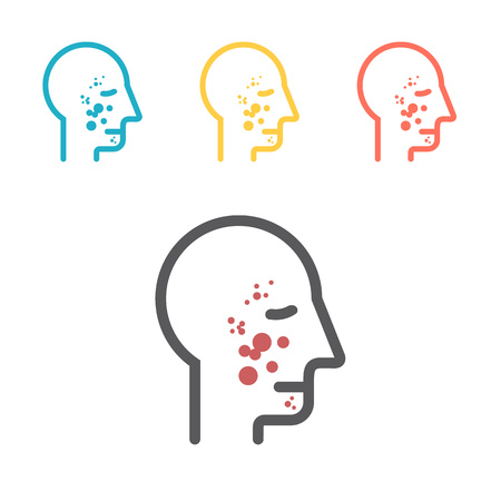 Rash Icon. Vector sign for web graphic Ilustracja