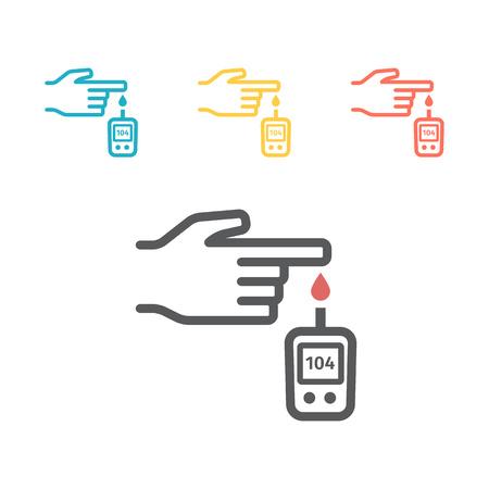 Diabetes. Blood Glucose Meter icon vector Ilustração Vetorial