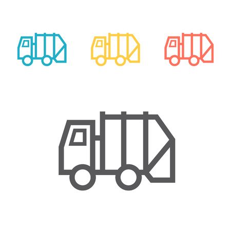 Recycle Truck Icon. Vector signs for web graphics. Illustration