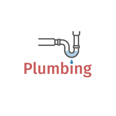Clog in pipe. Blocked pipe. mud in a blocked drain, unclog, water leak, leaky, leaking, drop Vector illustration