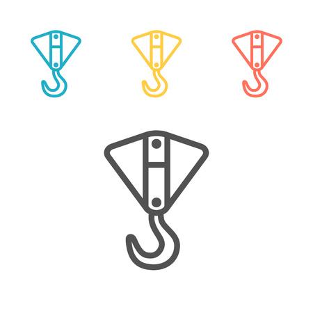 Industrial hook line icon. Vector sign for web graphic Ilustración de vector