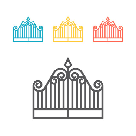 Gate line icon. Vector sign for web graphic. Illustration