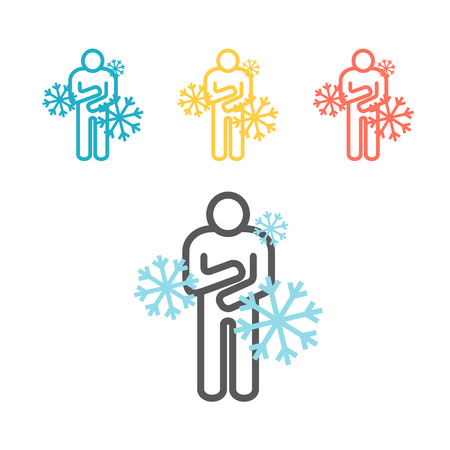 The man froze. Vector sign for web graphic. Illustration