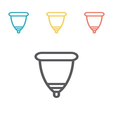 Menstrual cup. Vector icon for web graphic.