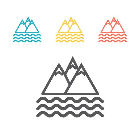 Mountain flat icon. Vector sign for web graphics. Ilustrace