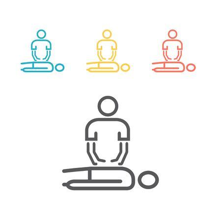 Ikona linii masażu. Wektor znak dla grafiki internetowej