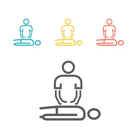 Massage line Icon. Vector sign for web graphics
