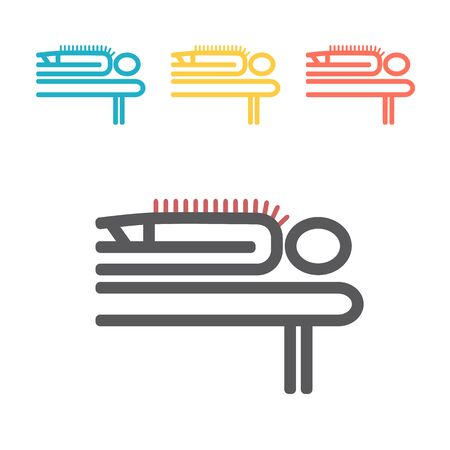 Acupuncture line icon. Vector sign for web graphics.