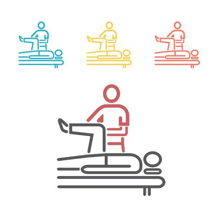 Massage line Icon. Vector sign for web graphics. Stock Illustratie
