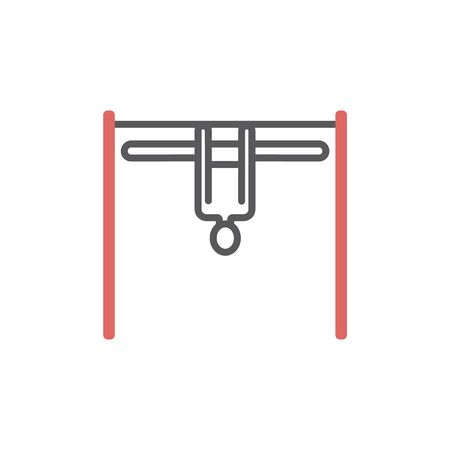 Horizontal bar line icon Sport vector sign