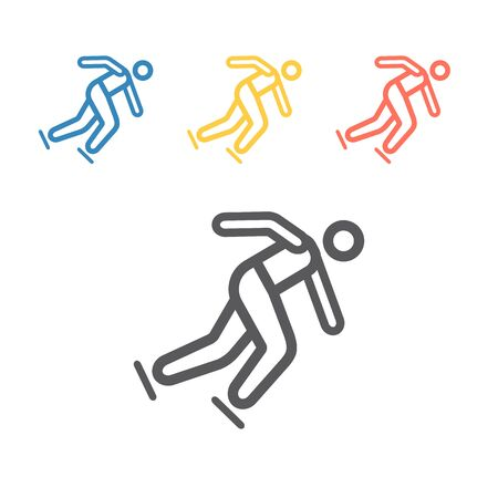 Speed skating line icon. Winter game. Vector signs for web graphics