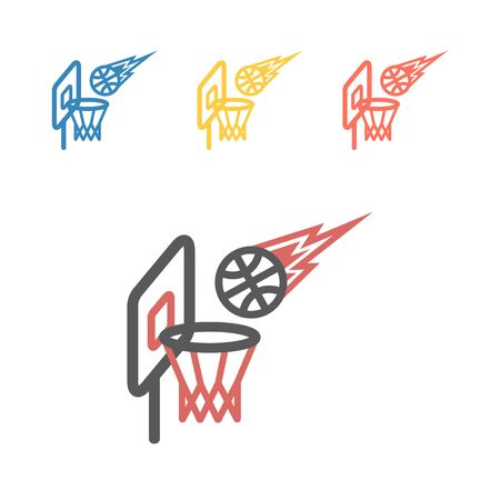 Basketball hoop line icon. Vector signs for web graphics. Иллюстрация