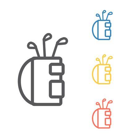 Golf clubs bag symbol. Vector signs for web graphics. Иллюстрация