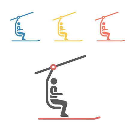 Ski Lift icon. Vector signs for web graphics