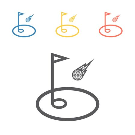 Golf flag icon.Vector signs for web graphics.