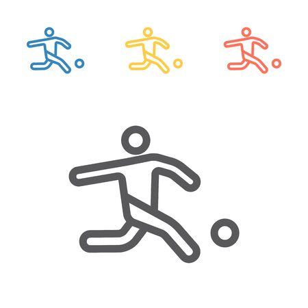 Footballer line icon. Vector signs for web graphics. Иллюстрация
