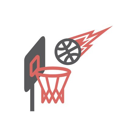 Basketball hoop icon. Vector signs for web graphics. Ilustracja
