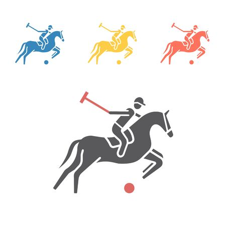 Polo player icon. Vector signs for web graphics. Ilustracja