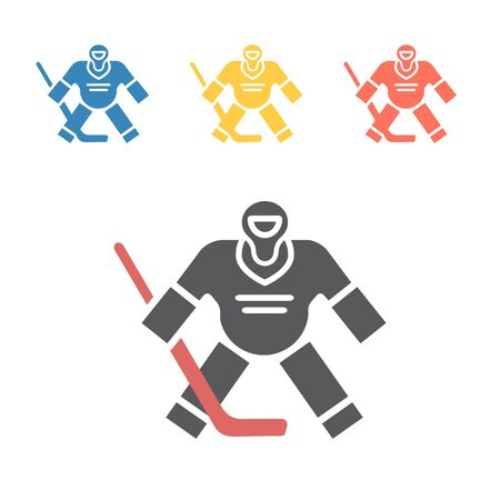 Hockey Goalkeeper icon. Vector signs for web graphics