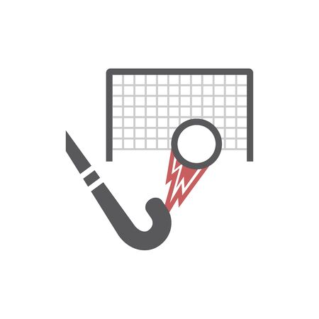 Field Hockey Stick with ball icon. Vector signs for web graphics