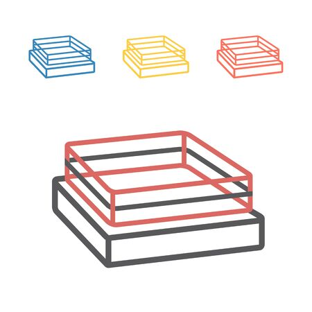 Boxing Ring. Vector signs for web graphics.