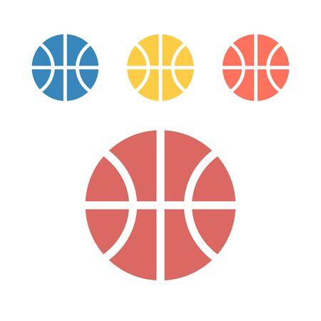 Basketball ball icon. Vector signs for web graphics