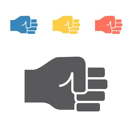 fist hitting icon. Vector signs for web graphics